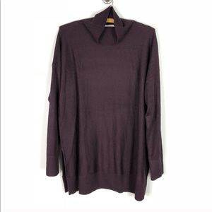 NEW LOFT Purple Oversized Turtleneck Sweater *51